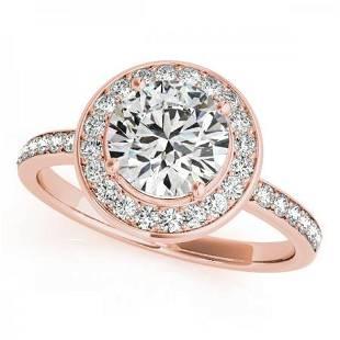 CERTIFIED 18K ROSE GOLD 154 CT GHVSSI1 DIAMOND HALO