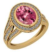 Certified 305 Ctw Pink Tourmaline And Diamond VSSI1 1