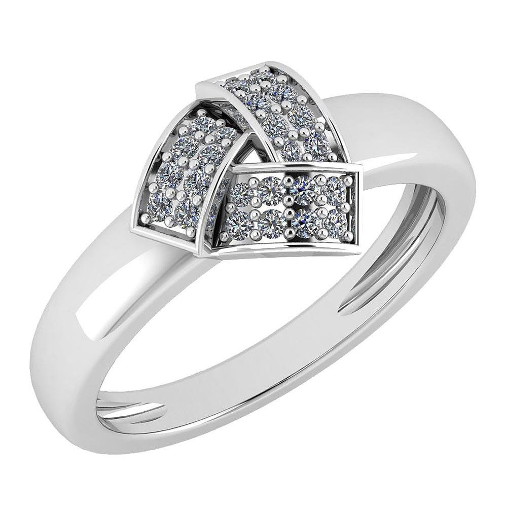 Certified 0.18 Ctw Diamond VS/SI1 Engagement Platinum R