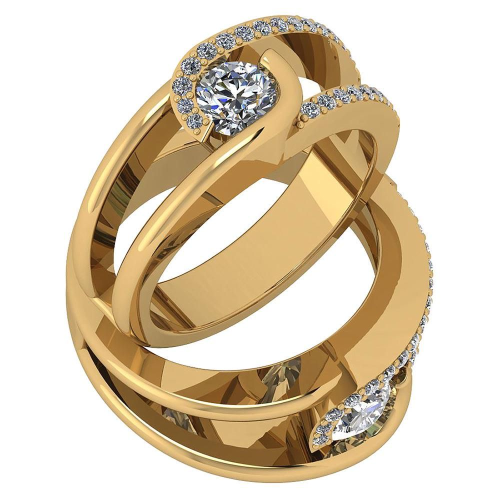 Certified 0.69 Ctw Diamond I1/I2 Engagement 10K Rose Go