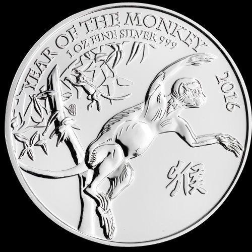 2016 1 oz British Silver Year of the Monkey