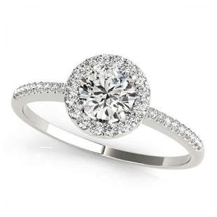 CERTIFIED PLATINUM 1.10 CTW G-H/VS-SI1 DIAMOND HALO ENG
