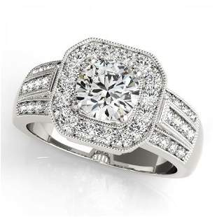 CERTIFIED PLATINUM 1.20 CTW G-H/VS-SI1 DIAMOND HALO ENG
