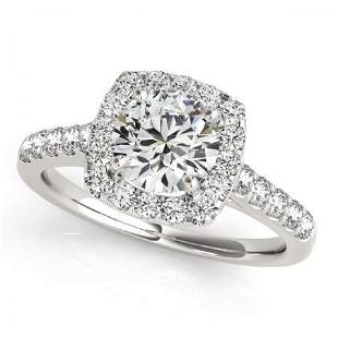 CERTIFIED PLATINUM 1.17 CTW G-H/VS-SI1 DIAMOND HALO ENG