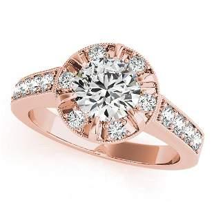 CERTIFIED 18K ROSE GOLD 1.25 CT G-H/VS-SI1 DIAMOND HALO