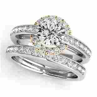 CERTIFIED 14KT TWO TONE GOLD 1.05 CTW G-H/VS-SI1 DIAMON