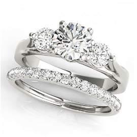 CERTIFIED 18KT WHITE GOLD 1.00 CTW J-K/VS-SI1 DIAMOND B