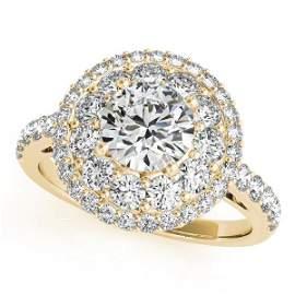 CERTIFIED 18K YELLOW GOLD 1.34 CTW J-K/VS-SI1 DIAMOND H