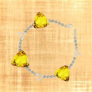 Certified 68.62Ctw Lemon Topaz 10K Gold Victorian Style