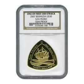 Bermuda 2007 $30 Gold San Pedro GEM Proof NGC (One of F