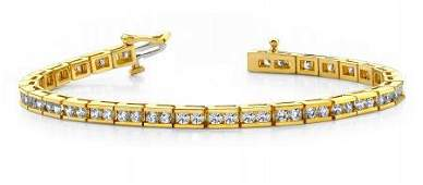 14KT YELLOW GOLD 4 CTW G-H VS2/SI1 TIMELESS ROADWAY DIA