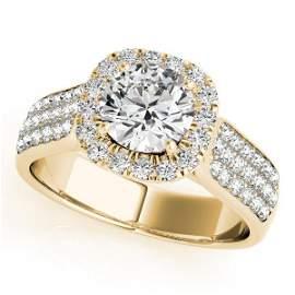 CERTIFIED 18K YELLOW GOLD 1.40 CTW J-K/VS-SI1 DIAMOND H