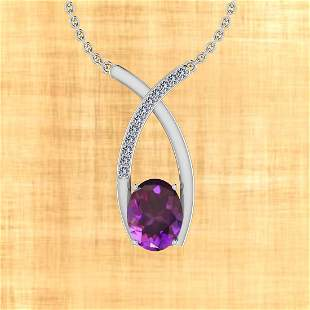 Certified 14.45 Ctw Amethyst And Diamond I2/I3 10K Gold