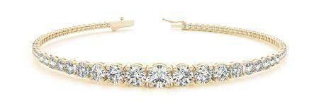 14K YELLOW GOLD 5 CTW G-H I1/I2 DIAMOND BRACELET