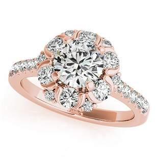 CERTIFIED 18K ROSE GOLD 1.51 CTW J-K/VS-SI1 DIAMOND HAL