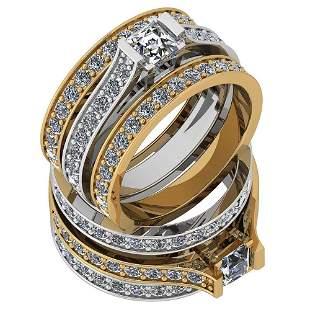 Certified 1.79 Ctw Diamond VS2/SI1 2 Tone Engagement 14
