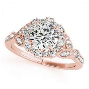 CERTIFIED 18K ROSE GOLD 1.13 CTW J-K/VS-SI1 DIAMOND HAL