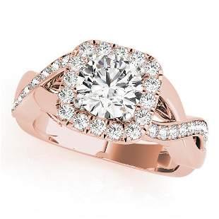 CERTIFIED 18K ROSE GOLD 1.34 CTW J-K/VS-SI1 DIAMOND HAL