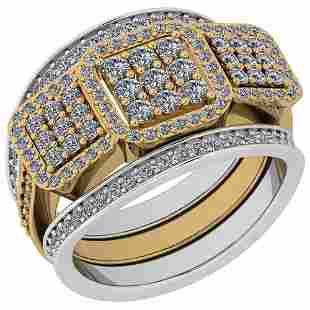 Certified 1.36 Ctw Diamond VS2/SI1 2 Tone Engagement 14