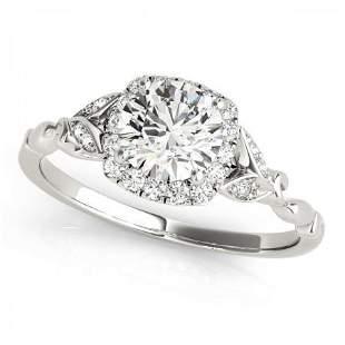 CERTIFIED 14KT WHITE GOLD 0.87 CTW J-K/VS-SI1 DIAMOND H