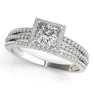 Certified 1.20 Ctw SI2/I1 Diamond 14K White Gold Engage