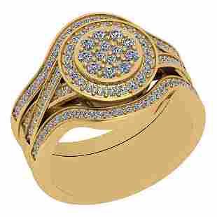 0.86 Ctw VS/SI1 Diamond 14K Yellow Gold Victorian Style