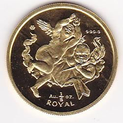 Gibraltar 5th Ounce Gold Royal Cherub (dates our choice