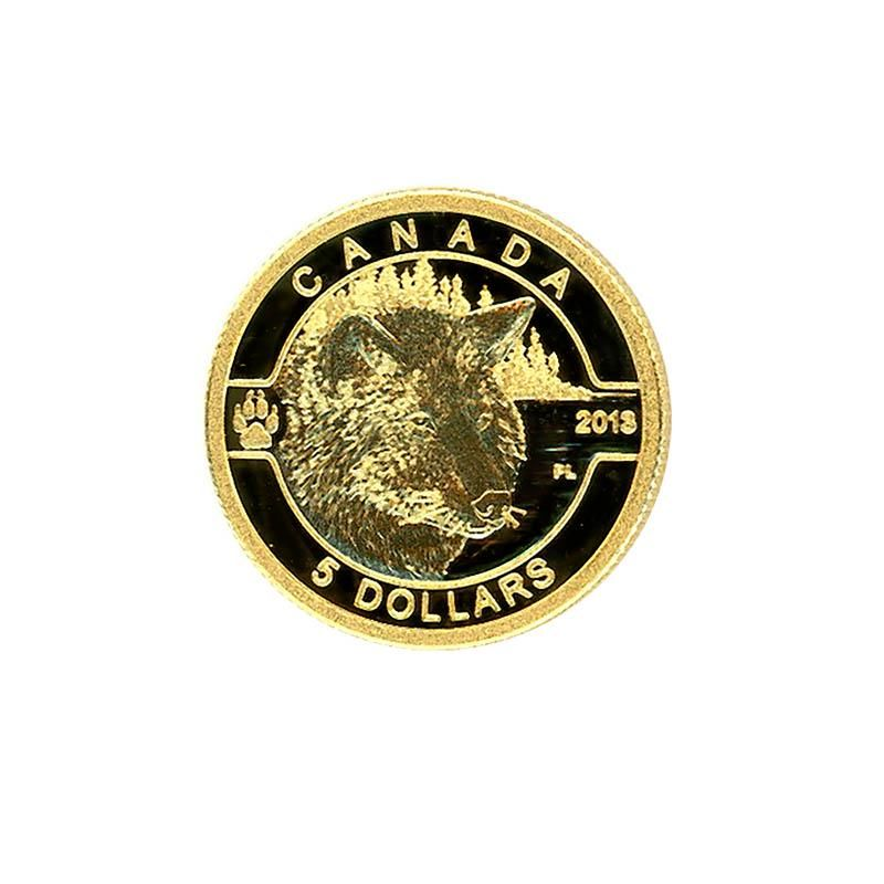 Canada $5 Tenth ounce Gold PF Wolf 2013