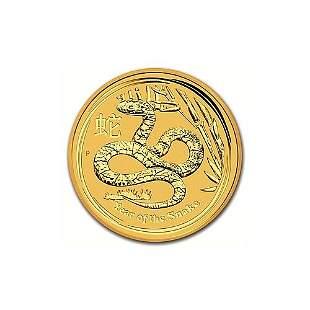 Australian Series II Lunar Gold Quarter Ounce 2013 Snak