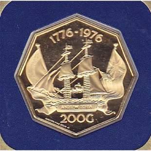 Netherlands Antilles 200 Gulden Gold PF 1976-1977 Andre