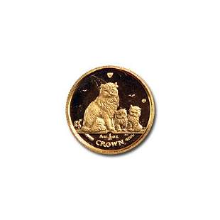 Isle of Man Gold Cat 25th Ounce 2005