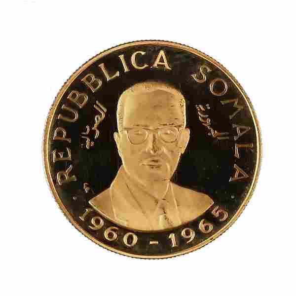 Somalia 50 Shillings Gold 1965 PF Independence