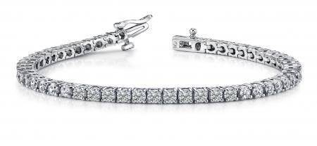 14K WHITE GOLD 2 CTW G-H SI2/SI3 CLASSIC FOUR PRONG TEN
