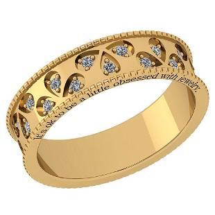 Certified 0.24 Ctw Diamond VS/SI1 14K Yellow Gold Band
