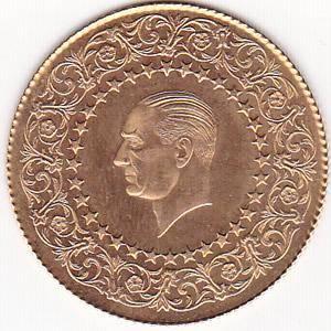 Turkey 100 kurush Gold Monnaie de Luxe UNC