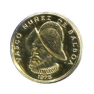 Panama 100 Balboas Gold 1975-1976 BU