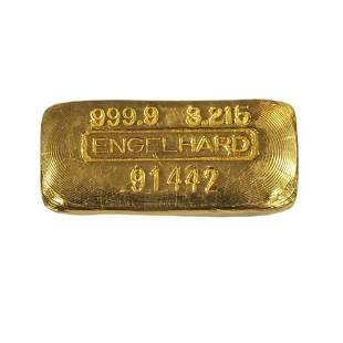 3.215oz (100g) Vintage Poured Engelhard Gold Bar 999.9