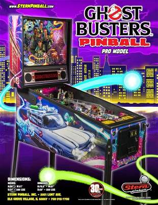 GHOST BUSTERS PRO PINBALL MACHINE (BRAND NEW IN BOX)