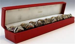 Cartier Salt Sterling Silver Salt/Pepper Shakers