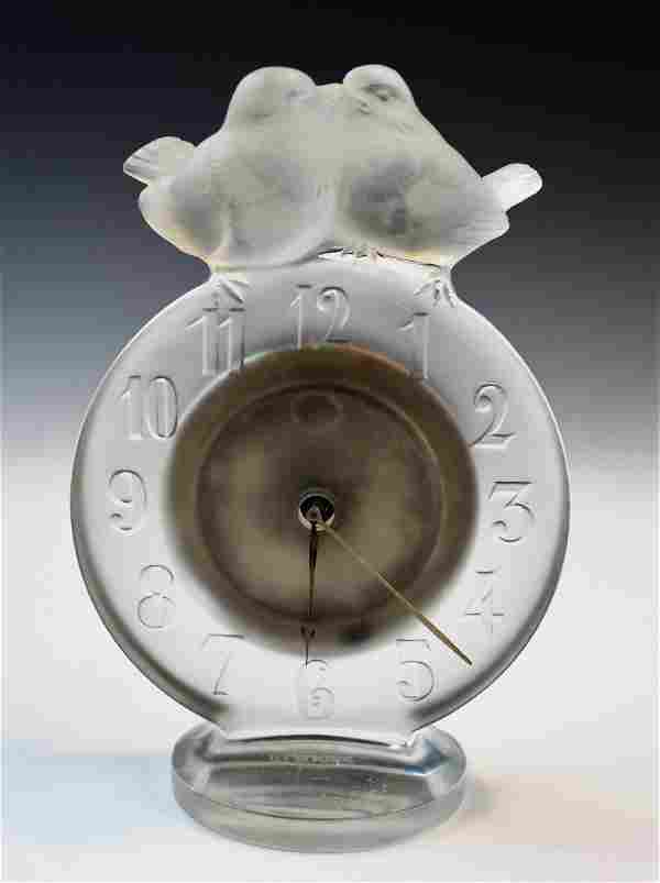 1932 Rene Lalique Antoinette Clock