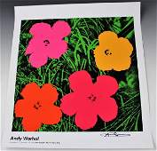 Andy Warhol Leo Castelli Signed Exhibition Poster