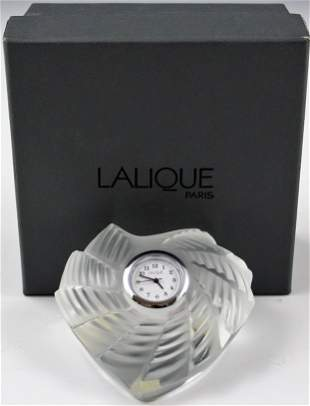 Lalique Paris Desk Clock