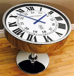 Cartier Ronde Solo Large Showroom Table Clock