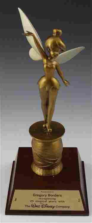 Walt Disney Tinkerbell Bronze Sculpture Award