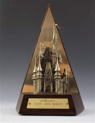 Walt Disney Cinderella Castle Bronze Sculpture Award