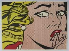 Roy Lichtenstein, Signed Crying Girl