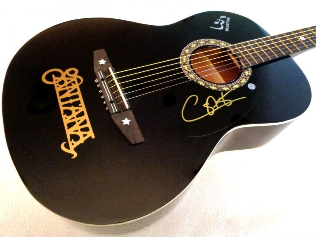 santana signed guitar