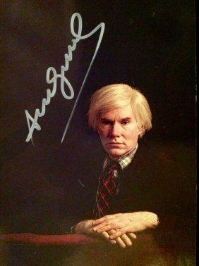 Andy Warhol Signed Postcard