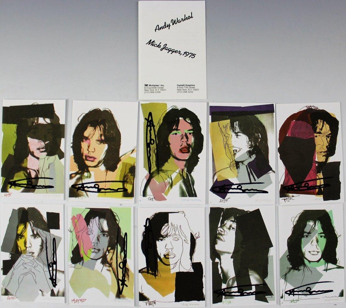 Andy Warhol, Mick Jagger Signed Portfolio