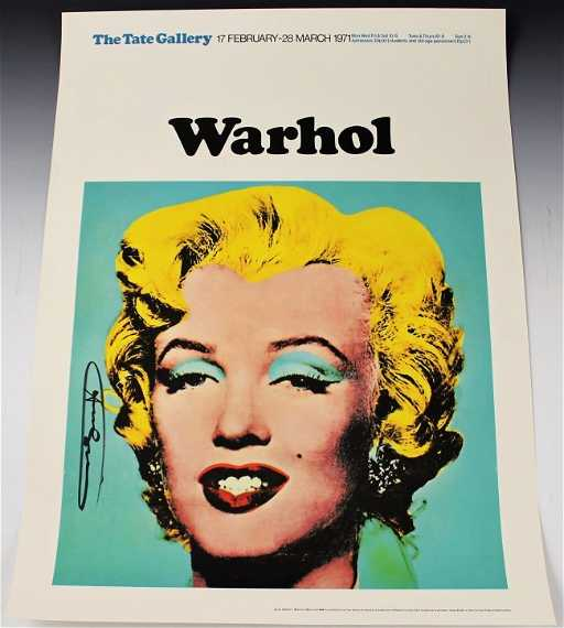 Andy Warhol, Tate Gallery Signed Marilyn Monroe Poster